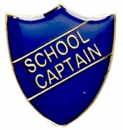 ShieldBadge School Captain Blue 22 x 25mm