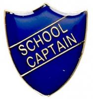 ShieldBadge School Captain Blue Blue 22 x 25mm