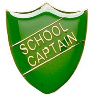 ShieldBadge School Captain Green 22 x 25mm