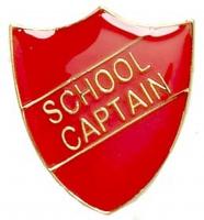 ShieldBadge School Captain Red 22 x 25mm