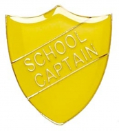ShieldBadge School Captain Yellow Yellow 22 x 25mm