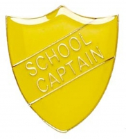 ShieldBadge School Captain Yellow 22 x 25mm