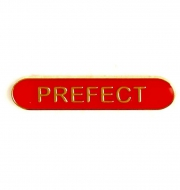 BarBadge Prefect Red Red 40 x 8mm