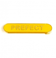 BarBadge Prefect Yellow Yellow 40 x 8mm