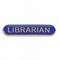 BarBadge Librarian Blue Blue 40 x 8mm