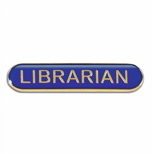 BarBadge Librarian Blue 40 x 8mm