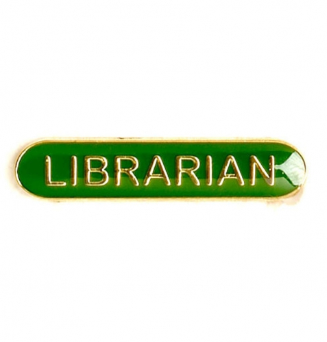 BarBadge Librarian Green 40 x 8mm