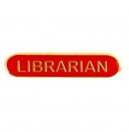 BarBadge Librarian Red Red 40 x 8mm