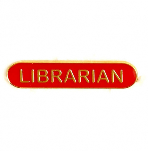 BarBadge Librarian Red 40 x 8mm