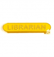 BarBadge Librarian Yellow Yellow 40 x 8mm