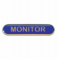 BarBadge Monitor Blue Blue 40 x 8mm