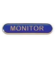 BarBadge Monitor Blue 40 x 8mm