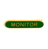 BarBadge Monitor Green Green 40 x 8mm