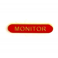 BarBadge Monitor Red Red 40 x 8mm