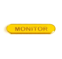 BarBadge Monitor Yellow Yellow 40 x 8mm