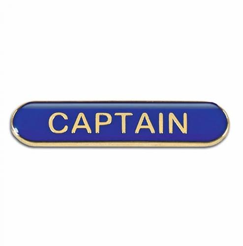 BarBadge Captain Blue Blue 40 x 8mm