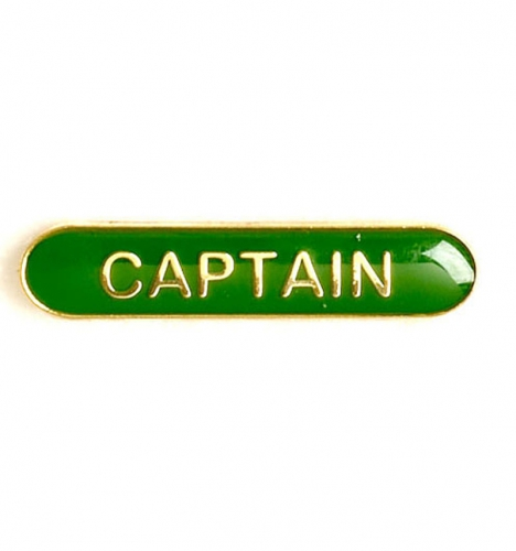BarBadge Captain Green Green 40 x 8mm