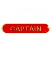 BarBadge Captain Red Red 40 x 8mm