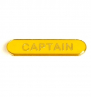 BarBadge Captain Yellow Yellow 40 x 8mm