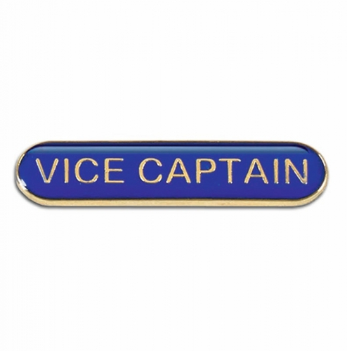BarBadge Vice Captain Blue 40 x 8mm