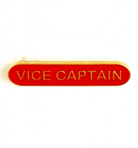 BarBadge Vice Captain Red 40 x 8mm