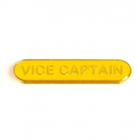 BarBadge Vice Captain Yellow Yellow 40 x 8mm