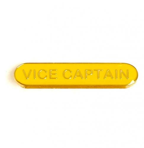 BarBadge Vice Captain Yellow 40 x 8mm
