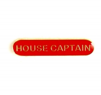 BarBadge House Captain Red Red 40 x 8mm