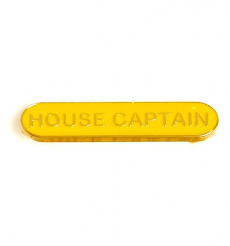 BarBadge House Captain Yellow 40 x 8mm