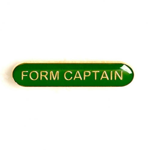 BarBadge Form Captain Green 40 x 8mm