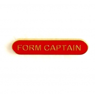 BarBadge Form Captain Red Red 40 x 8mm