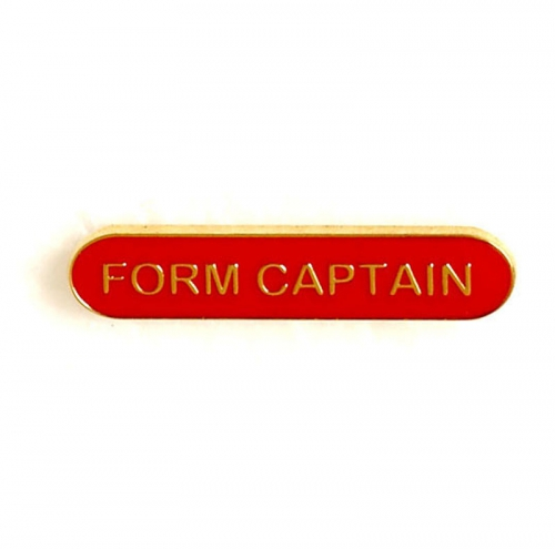 BarBadge Form Captain Red 40 x 8mm
