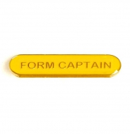 BarBadge Form Captain Yellow Yellow 40 x 8mm