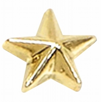 Gold Raised Star Badge Gold 12mm