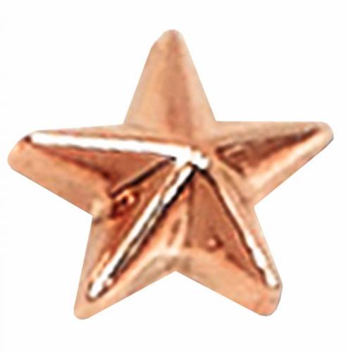 Bronze Raised Star Badge Bronze 12mm