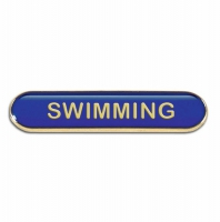 BarBadge Swimming Blue Blue 40 x 8mm