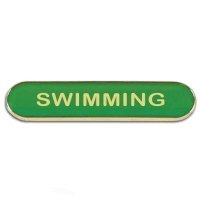 BarBadge Swimming Green Green 40 x 8mm