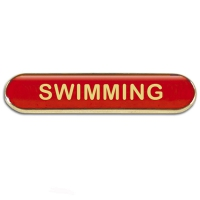 BarBadge Swimming Red 40 x 8mm