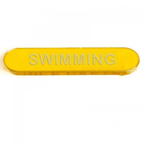 BarBadge Swimming Yellow 40 x 8mm