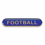 BarBadge Football Blue Blue 40 x 8mm