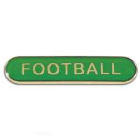 BarBadge Football Green 40 x 8mm