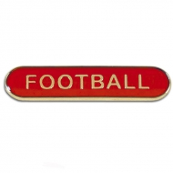 BarBadge Football Red Red 40 x 8mm