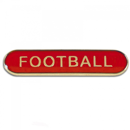BarBadge Football Red 40 x 8mm