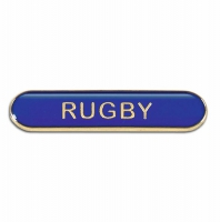 BarBadge Rugby Blue Blue 40 x 8mm