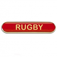 BarBadge Rugby Red Red 40 x 8mm