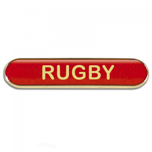 BarBadge Rugby Red 40 x 8mm