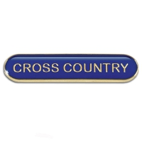 BarBadge Cross Country Blue Blue 40 x 8mm