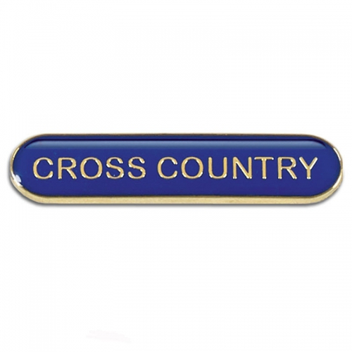 BarBadge Cross Country Blue 40 x 8mm