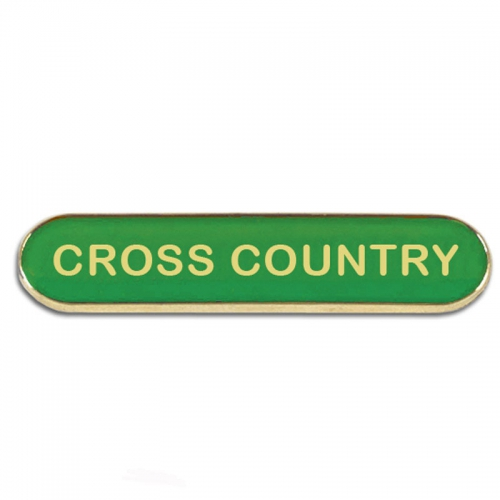 BarBadge Cross Country Green 40 x 8mm