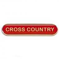 BarBadge Cross Country Red Red 40 x 8mm